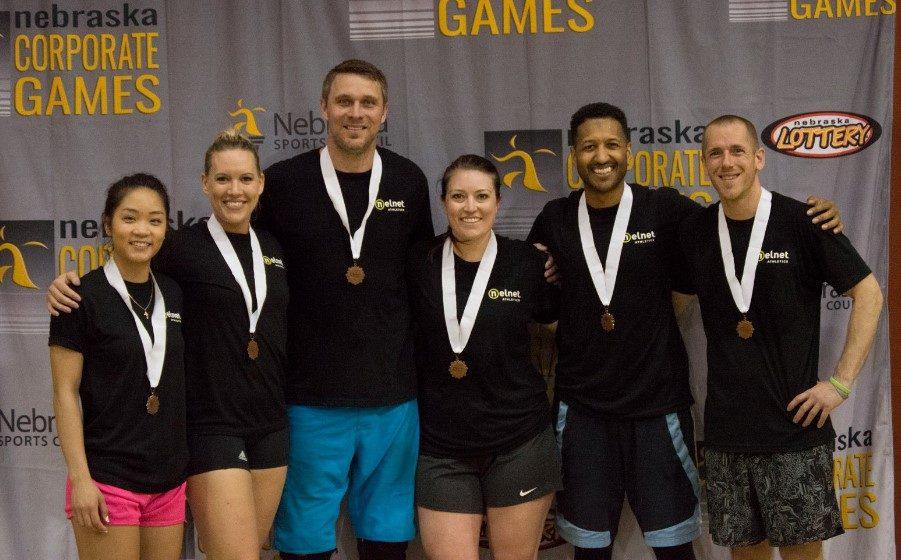 Nelnet Associates Nebraska Corporate Games Volleyball medals