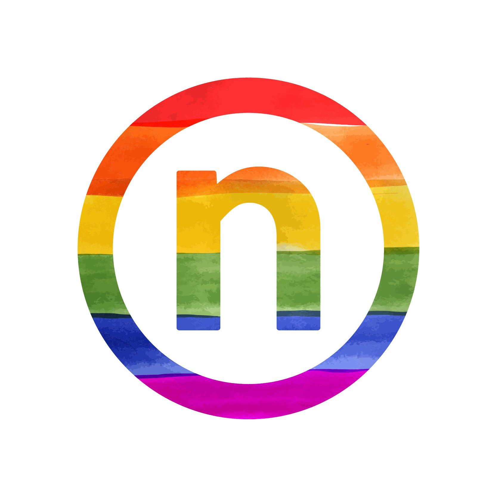 Nelnet rainbow logo lgbt pride month