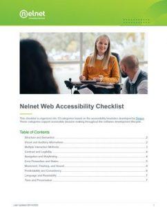 preview of Web Accessibility Checklist PDF
